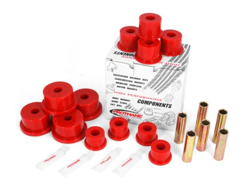 Rugged Ridge 18365.02 Red Rear Leaf Spring Bushing Kit