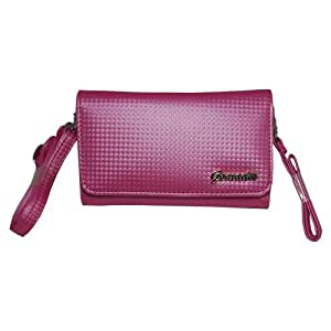 Gomadic Pink Women Purse Case for LG GD880 – Hand and Shoulder Straps Included