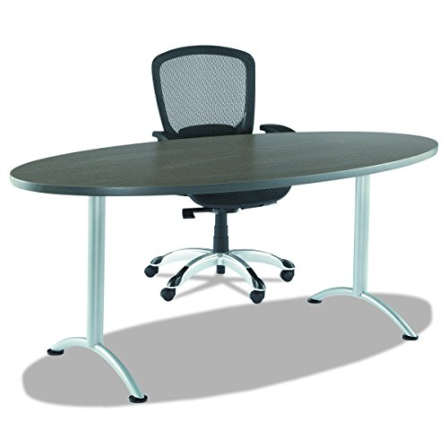 Iceberg ICE69625 ARC 6-foot Adjustable Height Oval Conference Table, 36'' x 72'', Gray Walnut/Silver Leg by Iceberg (Image #4)