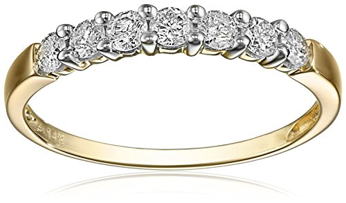 7 Stone Shared Prong Diamond Color Clarity