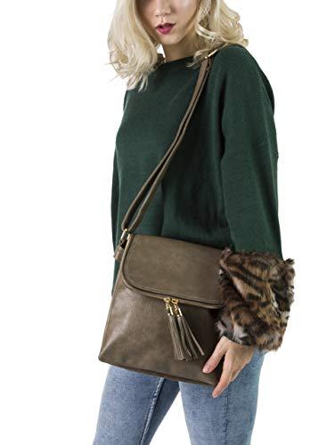 Di Moda Donna Handbag Da Dimensioni Borsa Alla 2 Medie Tracolla Big Shop A Black Design 0dYxYFP