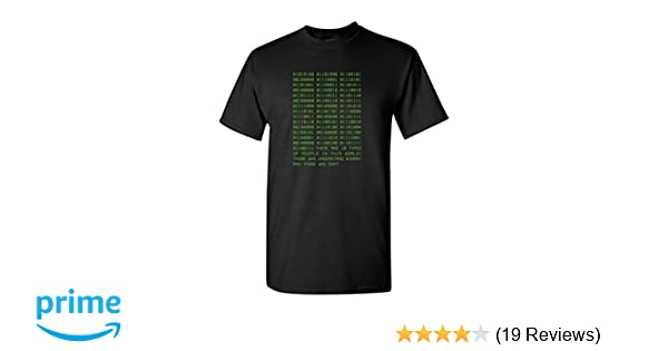 0334c2b43e823 Amazon.com  Thread Science Binary Funny Computer Programmer Code Humor  Engineer Technology Men s T-Shirt  Clothing