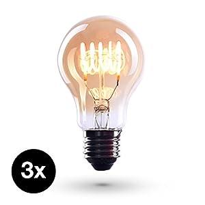 Retro 6W LED Birne Filament Edison Lampe Kronleuchter ersetzen Glühlampe E27 E14