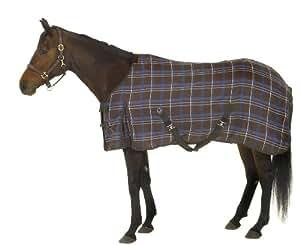 Centaur Basics EZ Care Stable Sheet Choc/Blue Plaid, 70