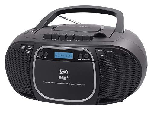 Trevi CMP 576 DAB draagbare stereo-stereo-ontvanger met digitale DAB/DAB+/FM-ontvanger met RDS, MP3, CD, USB, AUX-IN…