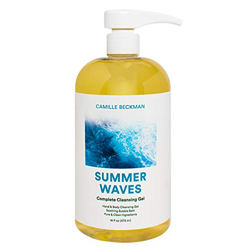 Camille Beckman Complete Hand & Body Cleansing Gel, Summer Waves, 16 ()