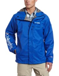 (狂促)哥伦比亚 Columbia 男士防水透气2.5层冲锋衣 HydroTech Rain 红 折后 $51.48
