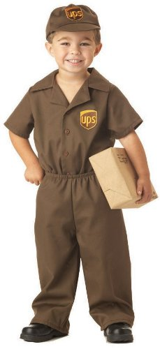 Ups Guy Halloween Costume (UPS Guy Costume - Toddler Large)