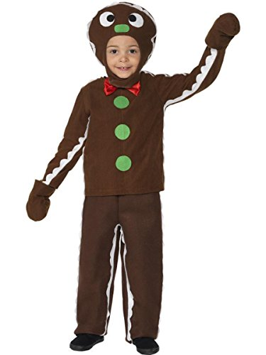 Gingerbread Boy Costumes (3 Piece Boys Gingerbread Man Costume Top & Pants w/ Headpiece)