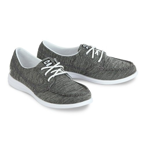 (Brunswick Ladies Karma Bowling Shoes- Grey/White,)