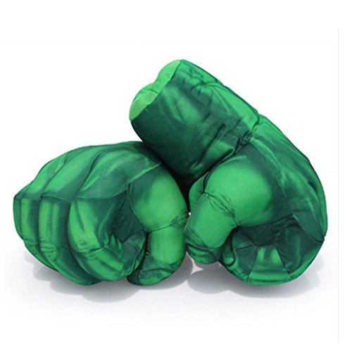 Yxaomite Hulk Gloves Hulk Smash Hands Fists Big Soft Plush Kids Boxing Training Gloves Superhero Cosplay Costume Games Toy for Children Birthday Christmas (1 Pair)