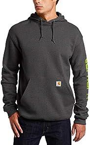 Carhartt Men's Midweight Sleeve Logo Hooded Sweatshirt (Regular and Big & Tal