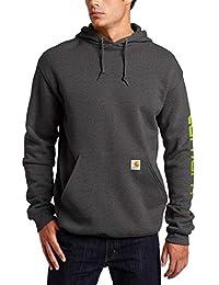 Men's Midweight Sleeve Logo Hooded Sweatshirt (Regular and Big & Tall Sizes)