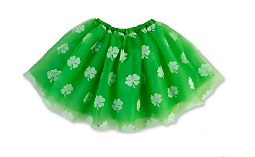 Rush Dance Ballerina St Patrick's Day Green & White Shamrock Clover Costume (Irish Fancy Dress Costumes)