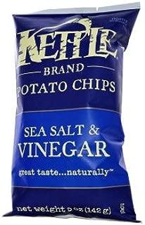 product image for Kettle Foods, Potato Chips, Sea Salt & Vinegar, 5 oz (142 g)(Pack of 3)