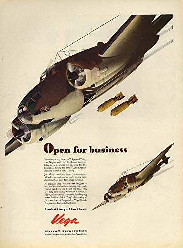 Open for business - the Lockheed Vega Ventura bomber ad 1942 L