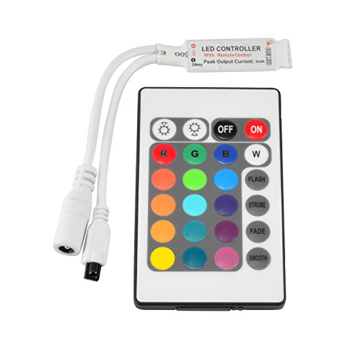 ABI Inline IR Controller with 24 Key Remote for 12V RGB LED