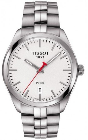 Tissot PR 100 NBA Silver Dial Stainless Steel Auto Men's Watch T1014101103101