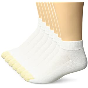 Gold Toe Men's Cushioned Sport Liner 7-Pack, White, Sock Size:10-13/Shoe Size: 6-12