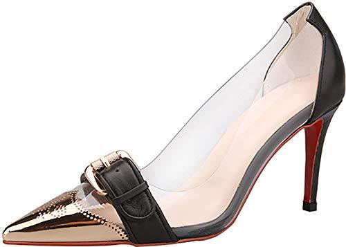 Zapatos Mujer Ponerse Puntiaguda Qaicn tac 5CM Arraysa de 8 Punta OanqT6