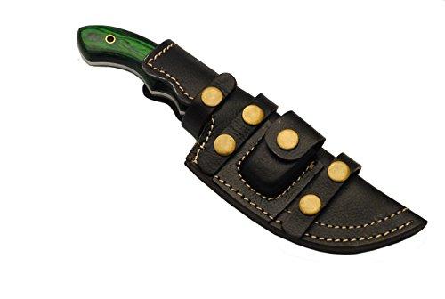 Buck n Bear Custom Handmade 440C Stainless Steel Fixed Blade Bushcraft Survival Tracker Knife (Maple Burl Handle)