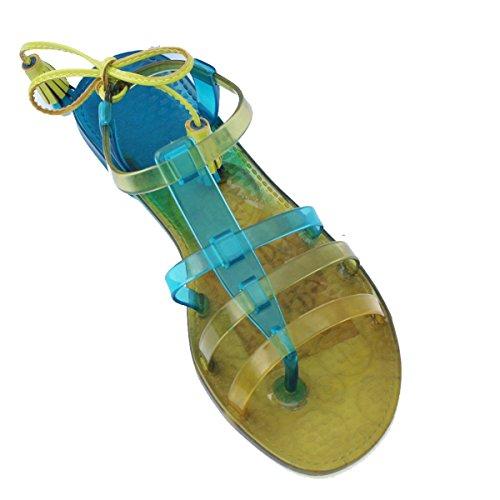 Para dedo del pie-Post Juicy Couture carcasa blanda de y pedrería para mujer, estándar del Reino Unido 3 -  3 5. DE £78 azul - azul (Ocean Blue)