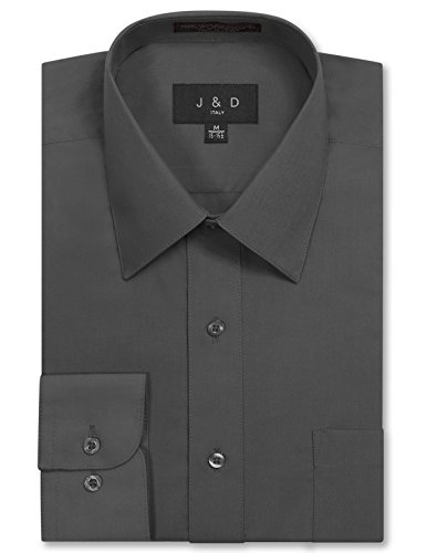 JD Apparel Men's Long Sleeve Regular Fit Solid Dress for sale  Delivered anywhere in USA