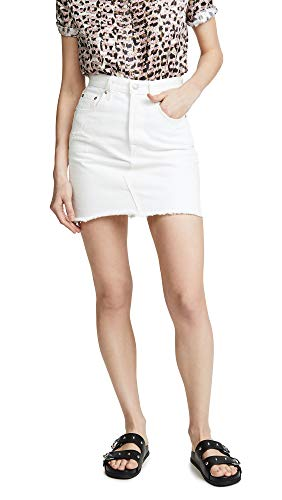 (Levi's Women's Deconstructed Skirt, Pearly White, 27)