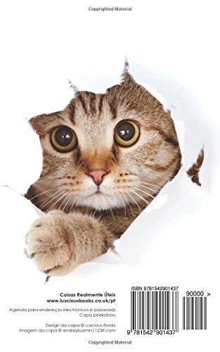 Agenda de passwords: Agenda para endereços electrónicos e passwords - Capa peekaboo (Agendas com gatos) (Portuguese Edition): Coisas Realmente Úteis: ...
