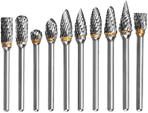 Rotary File Electric Grinding Shank Drill Bits Head for Rotary Burr Tool H1U2