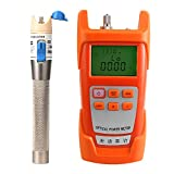 Prettyia 1Set Fiber Optic Cable Tester Optical Power Meter with Sc & Fc Connector Fiber Tester +1mW Visual Fault Locator for CATV Test,CCTV Test