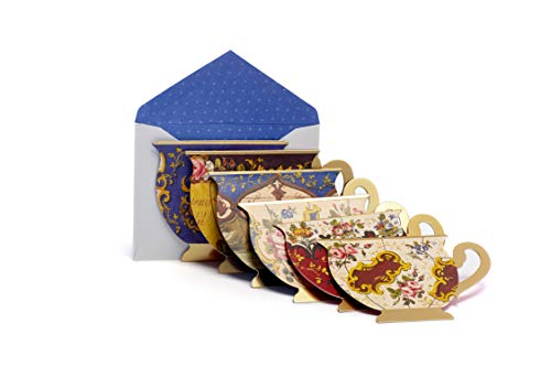 (The Metropolitan Museum of Art French Teacups Collection Note Cards Greeting Cards Bulk Box Set -18 die-cut note cards 5 1⁄4