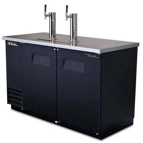 True Black 2-Tap Direct Draw Beer Dispenser f/ 2 (Direct Draw Draft Beer Dispenser)