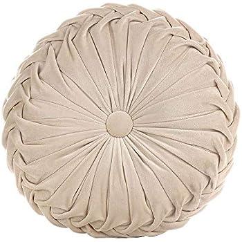 Amazon.com: Ewer - Cojín redondo de terciopelo con diseño de ...