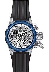 Invicta Men's Russian Diver Black Silicone Band Steel Case Quartz Silver-Tone Dial Analog Watch 21681