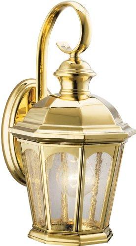 Kichler Lighting 9036PB Rockbridge Outdoor Sconce, Polished Brass ()