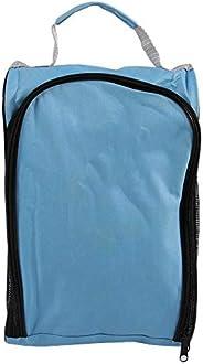 Golf Shoe Bag, Nylon Zipper Shoe Carrier Tote Bag Side Pockets for Golf Balls Travel Outdoor Use(Sky Blue)