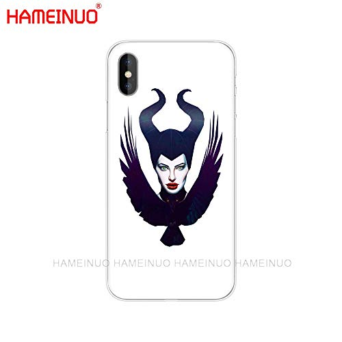 White Angelina Jolie iPhone 5C Case, American Actress iPhone 5 C Cover Filmmaker Activist iPhone Casing Jolie Horns Bird Portrait Maleficent Movie Heroine, Anti Knock Hard Plastic
