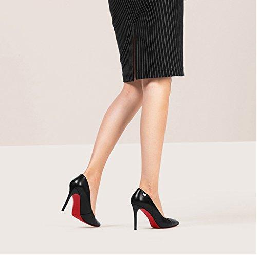 Chaussures 5cm Simples 9 Noires Noir Hauts Chaussures Professionnelles Mode Pointues Talons de Femme Talon Wysm Chaussures dTqpIfd