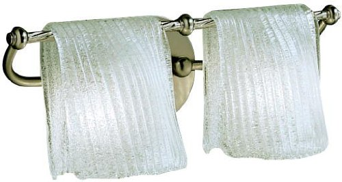 Kichler Lighting 6313NI Drapes 3LT Vanity Fixture, Brushed Nickel Finish and Clear Ice Glass Shades