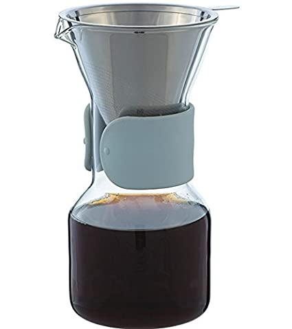 Grosche Austin Pour Over Coffee Maker with permanent Stainless Steel Coffee Filter GR 272