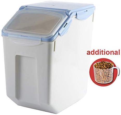 Baffect Envase de Comida, Caja de Almacenamiento para alimentación Animal, Comida para Perros Alimento para Gatos Envase para alimentación de Comida Seca Hermético, Grande 8-10 kg, Azul: Amazon.es: Productos para mascotas