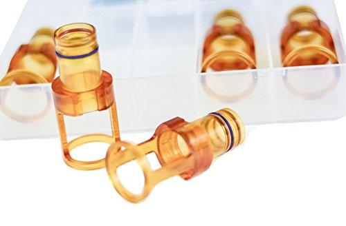 18mm Amber Distance Gauges (5-pack) - Dual Wavelength for Candela Lasers