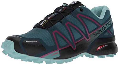 Salomon Womens Speedcross 4 CS W Trail Runner Mallard Blue z6T7D