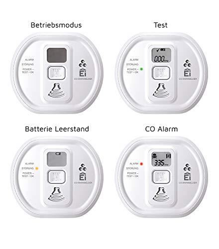 41CnObwLsVL Ei Electronics Ei208D CO Kohlenmonoxidmelder (mit Display und 10-Jahres-Batterie)