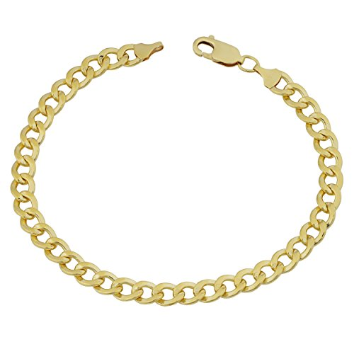 Kooljewelry 14k Yellow Gold Filled High Polish Miami Cuban Curb Link Chain Bracelet (6 mm, 8.5 inch)