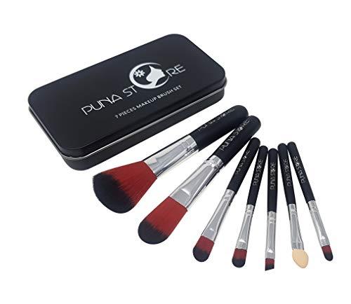 Puna Store® 7 Piece Makeup Brush Set   Black