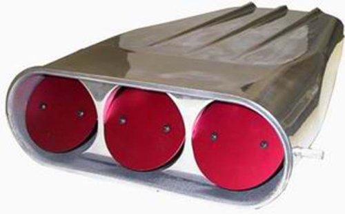 Racing Power Company R5239 4-Barrel Dual Polished Finned Street Scoop