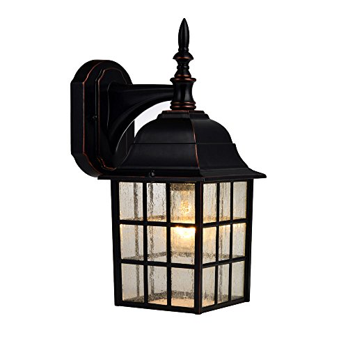Hardware House 188357 Downward-Facing 14-by-6-Inch Aluminum Outdoor Light Fixture, Oil Rubbed Bronze (Lamp Wall Venetian)