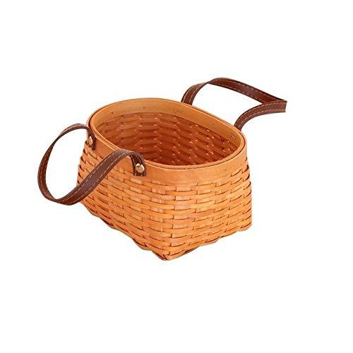 QINRUIKUANGSHAN Handmade Wood Chip Weaving Baskets, Storage Baskets, Basket Picnic Bread Baskets, Fruit Baskets, Portable Storage Baskets, Exquisite Style, Quality and Durability. Bread Basket, by QINRUIKUANGSHAN